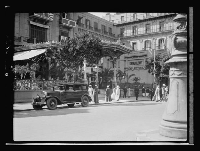 صور القاهرة القديمة، صور الزمن الجميل، مدخل فندق كونتننتال سافوي