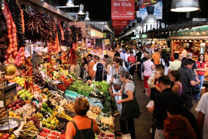 صور برشلونة، صور سفر، أفضل المعالم السياحية في برشلونة، سوق لابوكويريا