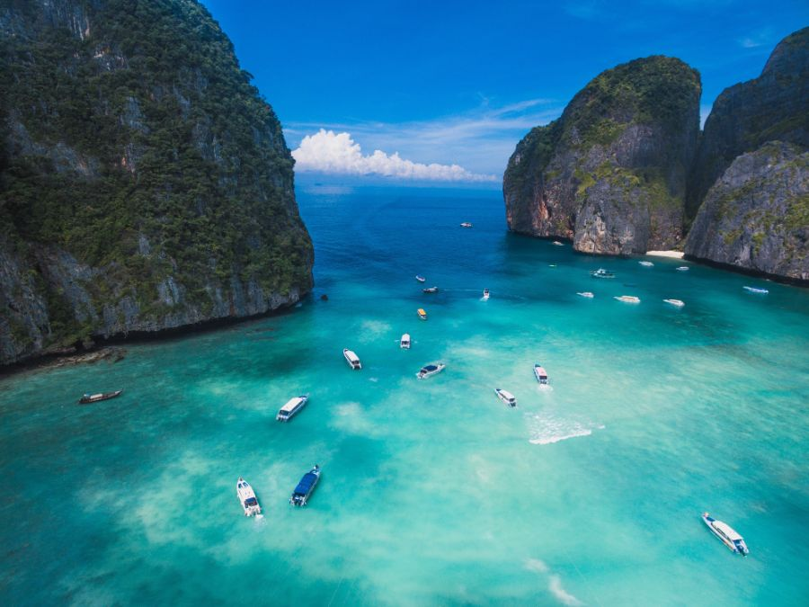 صور تايلند، أفضل الوجهات السياحية في تايلند، جزر في في، خليج مايا
