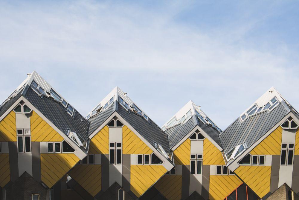 صور روتردام، صور سفر، أفضل المعالم السياحية في روتردام، المنازل المكعبة