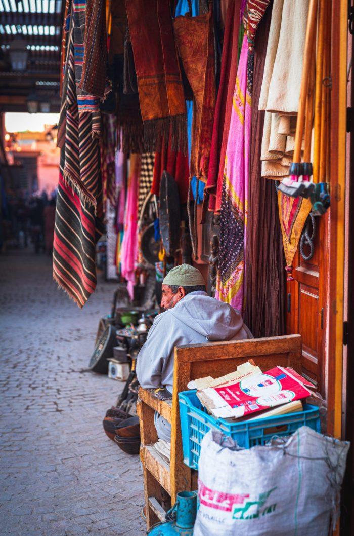 صور سفر، المعالم السياحية في المغرب التسوق، مراكش