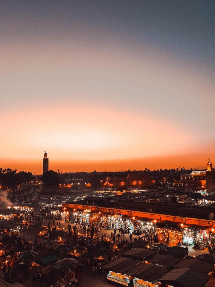 صور سفر، المعالم السياحية في المغرب ساحة جامع الفنا، مراكش
