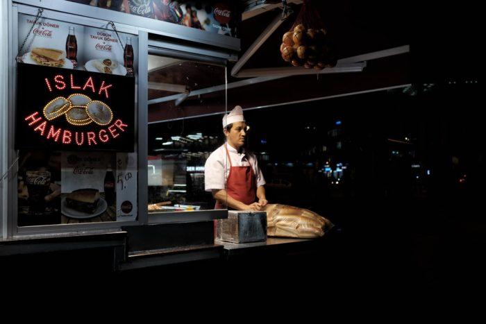 صور سفر، المعالم السياحية في تركيا اكشاك الأكل، إسطنبول