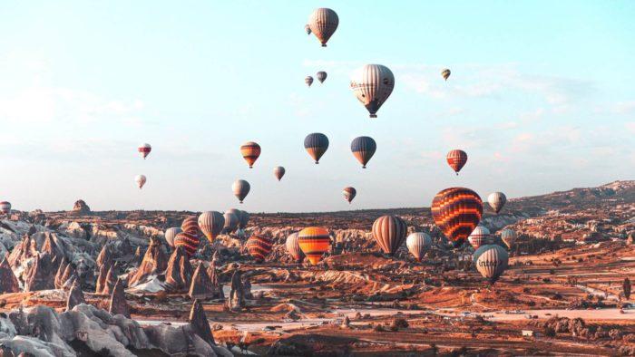 صور سفر، المعالم السياحية في تركيا منطاد، كابادوكيا edited