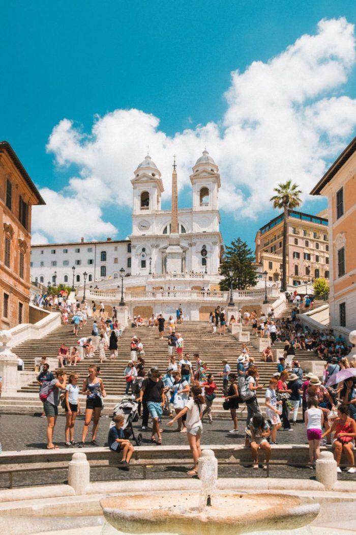 صور سفر، المعالم السياحية في روما، السلالم الإسبانية