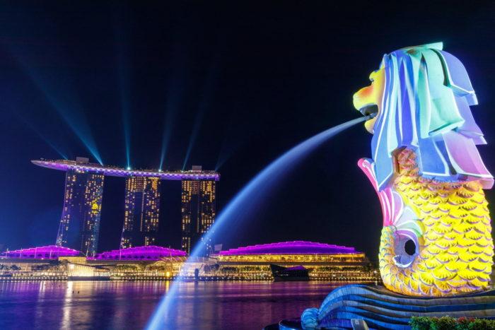 صور سفر، المعالم السياحية في سنغافورة خليج مارينا
