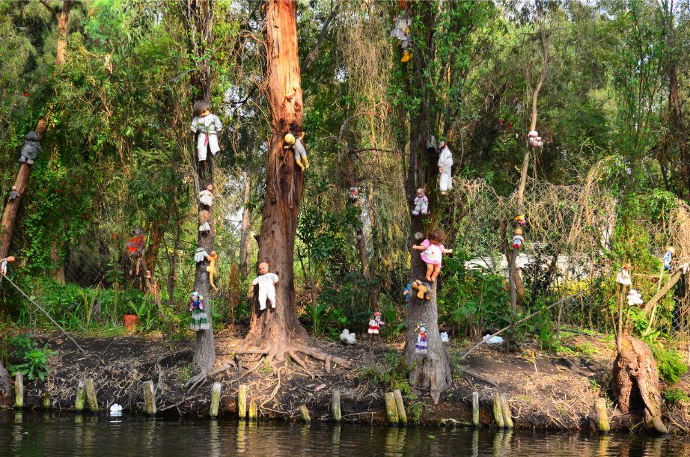 صور سفر، أكثر المزارات المخيفة في العالم، جزيرة الدمى المكسيكية، المكسيك