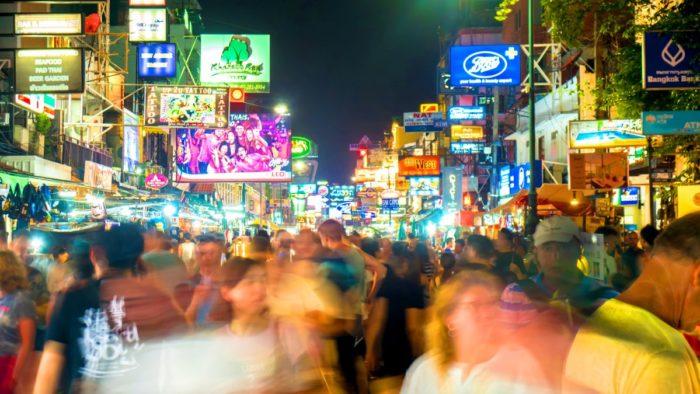 صور سفر، صور بانكوك، أهم المعالم السياحية في بانكوك، شارع خاو سان
