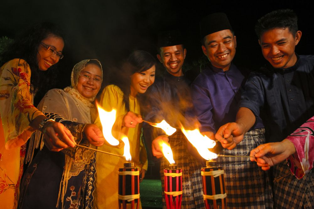 صور سفر، صور عيد الفطر، مصابيح العيد في ماليزيا