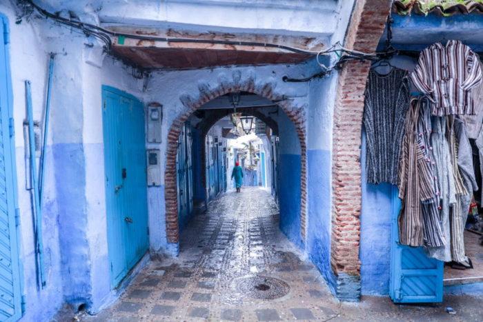 صور سفر شفشاون، أفضل المعالم السياحية في شفشاون، المباني والجدران الزرقاء