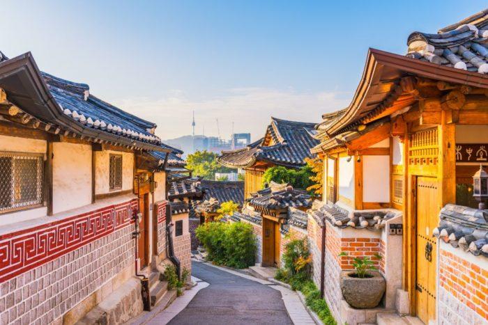 صور سيول، صور سفر، أفضل المعالم السياحية في سيول، قرية بكتشون التراثية