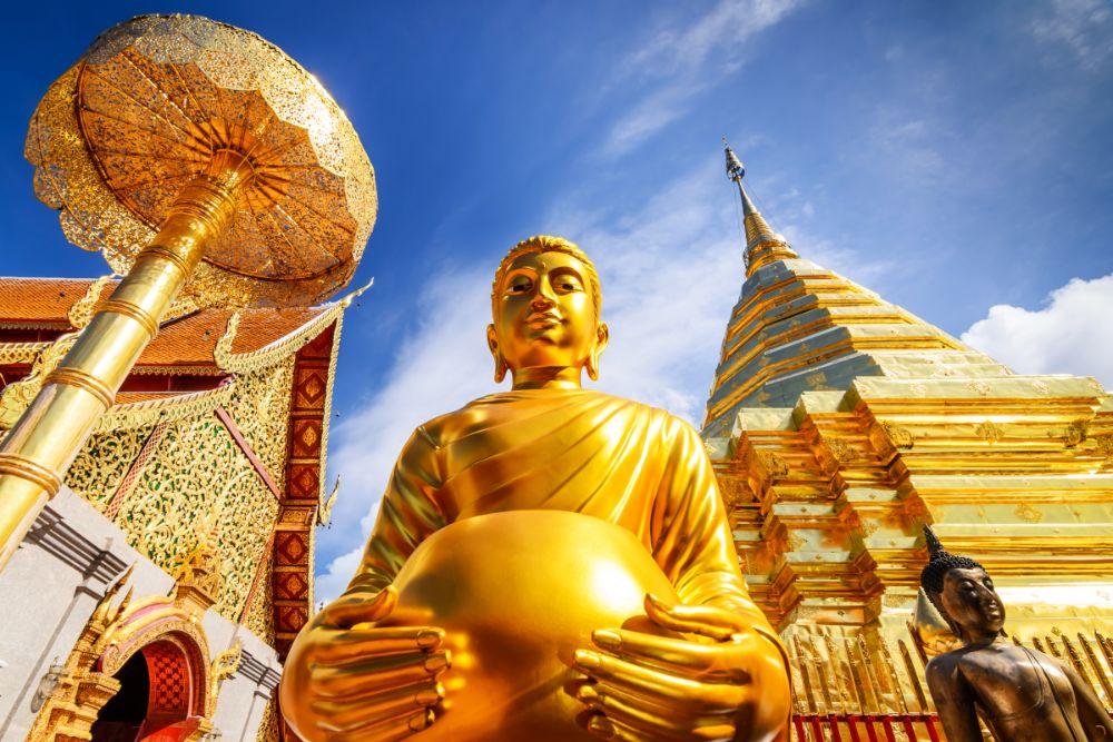 صور شيانغ ماي، صور سفر، أجمل المعالم السياحية في شيانغ ماي، معبد وات فرا ذات دوي سوثيب