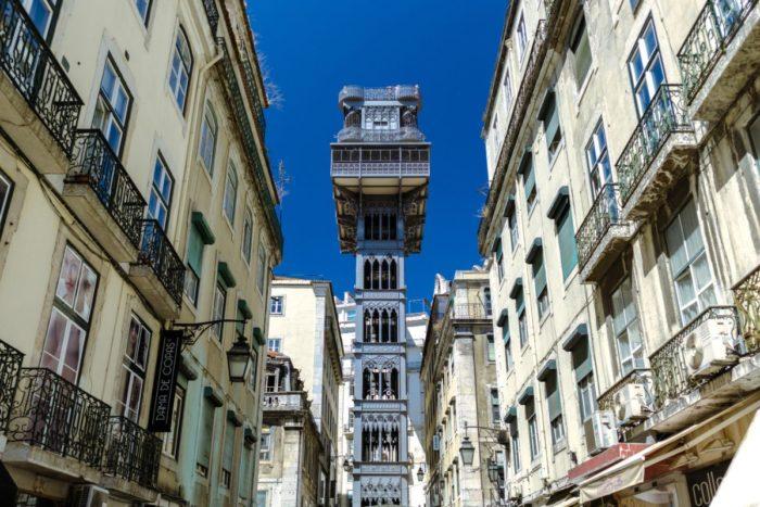 صور لشبونة، صور سفر، أفضل المعالم السياحية في لشبونة، مصعد سانتا جوستا