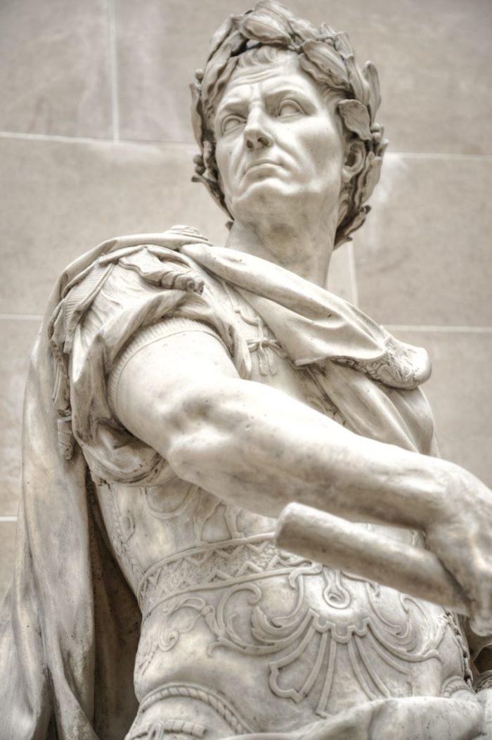 julius caesar marble statue min